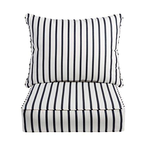 Mozaic AZPCSET5408 Sunbrella Indoor/Outdoor Deep Seating Corded Pillow and Cushion Set, 23