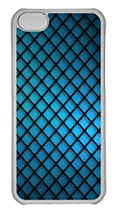 iPhone 5C Cases & Covers - Blue Grating Abstract Protective PC Case Cover for iPhone 5c - Transparent