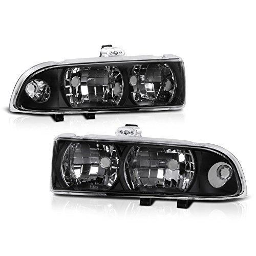 (VIPMOTOZ Headlight Headlamp Assembly For 1998-2004 Chevy S10 Pickup Truck & Blazer - Matte Black Housing, Driver and Passenger Side)