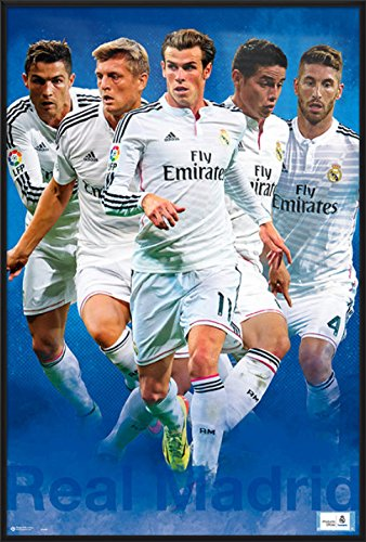 Real Madrid - Framed Sport / Soccer Poster / Print The Players - Cristiano