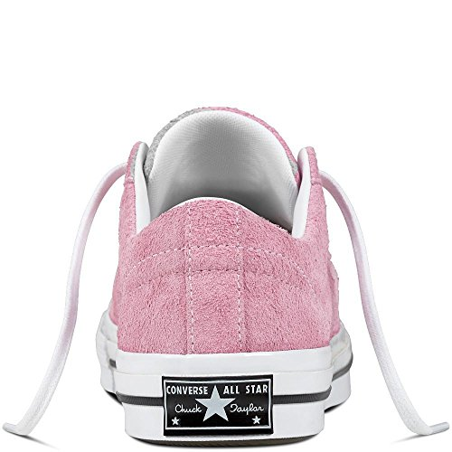 Erwachsene Unisex Fitnessschuhe 523 White Converse Star Black OX Pink Orchid One Suede Lifestyle Light apxwwq5