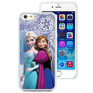 Fashionabale and Unique Iphone 6 Case Design with Frozen Elsa And Anna Iphone 6th 4.7 Inch White TPU Case