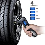 Digital Tire Pressure Gauge, Lantoo 150PSI with 5 In 1 Rescue Tools of LED Flashlight,Car Window Breaker, Seatbelt Cutter,Red Safety Light and Tire Gauge for Car,Motorcycle
