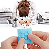 Jepop Endless Pop Pop Infinite Electronic Bubble Wrap Key Chain Squeeze Relieve Stress (Light Blue)