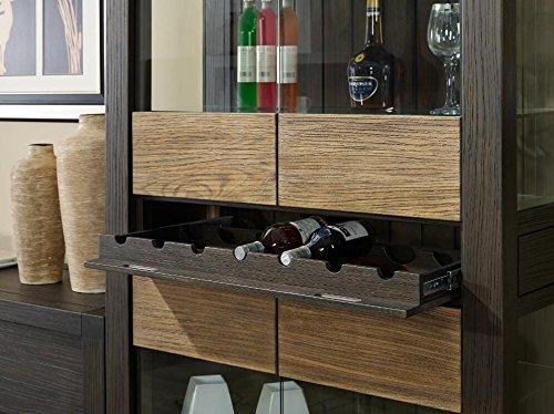 Solid Wooden Four Windows Wine Cabinet Bottle Holder Storage Kitchen Home Bar