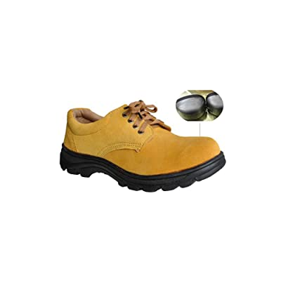 Men's Work Safety Shoes, Steel Toe Work Shoes Industrial & Construction Shoes Puncture Proof Safety Shoes (6.5): Home Improvement