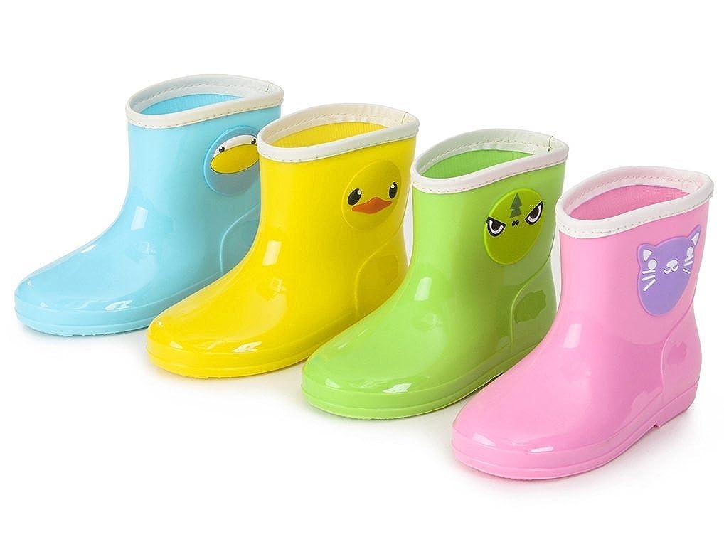 Cwait Cute Waterproof Rubber Rain Boots for Kids