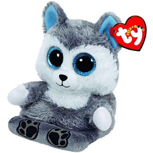 Ty – Peek-A-Boos – Scout le Husky – Peluche Support de Téléphone 10 cm