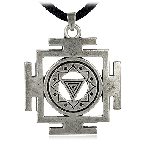 Kali Cross (LAN27 Kali Yantra of Transformation Hindu Goddess Pendant Necklace Tantric Yoga Hindi Jewelry)