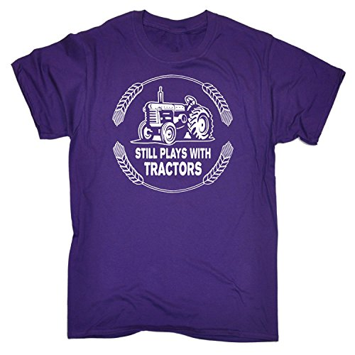 123t Men's STILL PLAYS WITH TRACTORS LOOSE FIT T-SHIRT