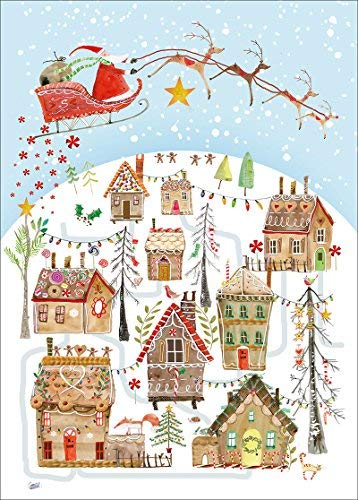 Museums & Galleries Gingerbread Village Card Advent Calendar, Multicolor