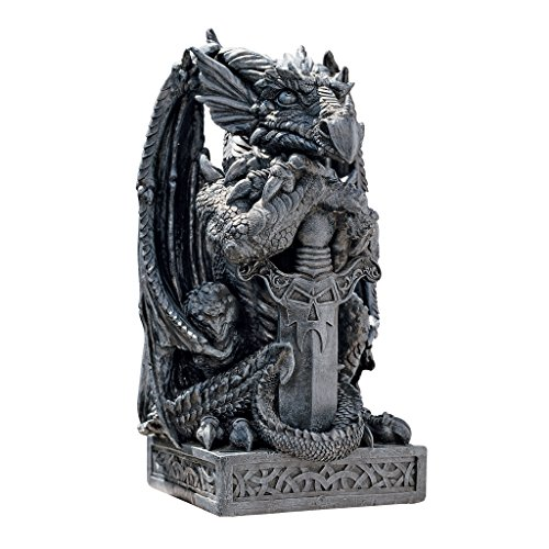 Design Toscano Sword, the Arthurian Dragon Statue Review
