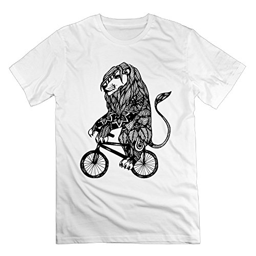 FONY Men's Lion Aztec On A Bicycle Short Printing Shirt