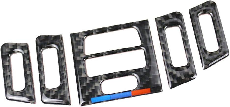 Young4 Carbon Style Mittelkonsolen Air Vent Wind Outlet Blenden Innendekoration Aufkleber Für Bmw E90 E92 E93 Garten