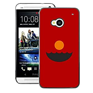A-type Arte & diseño plástico duro Fundas Cover Cubre Hard Case Cover para HTC One M7 (Sunset Red Minimalist Abstract Ocean)