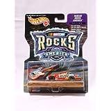 Hot Wheels Racing - NASCAR - Rocks America - Haas/Carter Motorsports, LLC./Kmart/Rt.66 - #66 Ford Taurus (red/yellow/blue) replica with bonus die-cast guitar