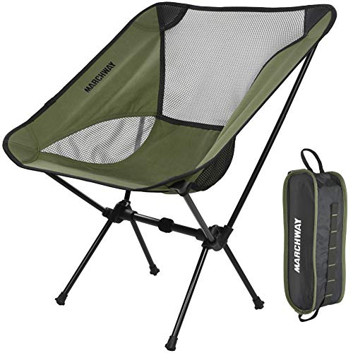 Ultralight Folding Camping Chair, Portable Compact for Outdoor Camp, Travel, Beach, Picnic, Festival, Hiking, Lightweight Backpacking (Green)