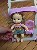 Fun! Granddaughter loves pushing it around. Cute toy. Only Baby Alive dolls will fit. Good to gift.