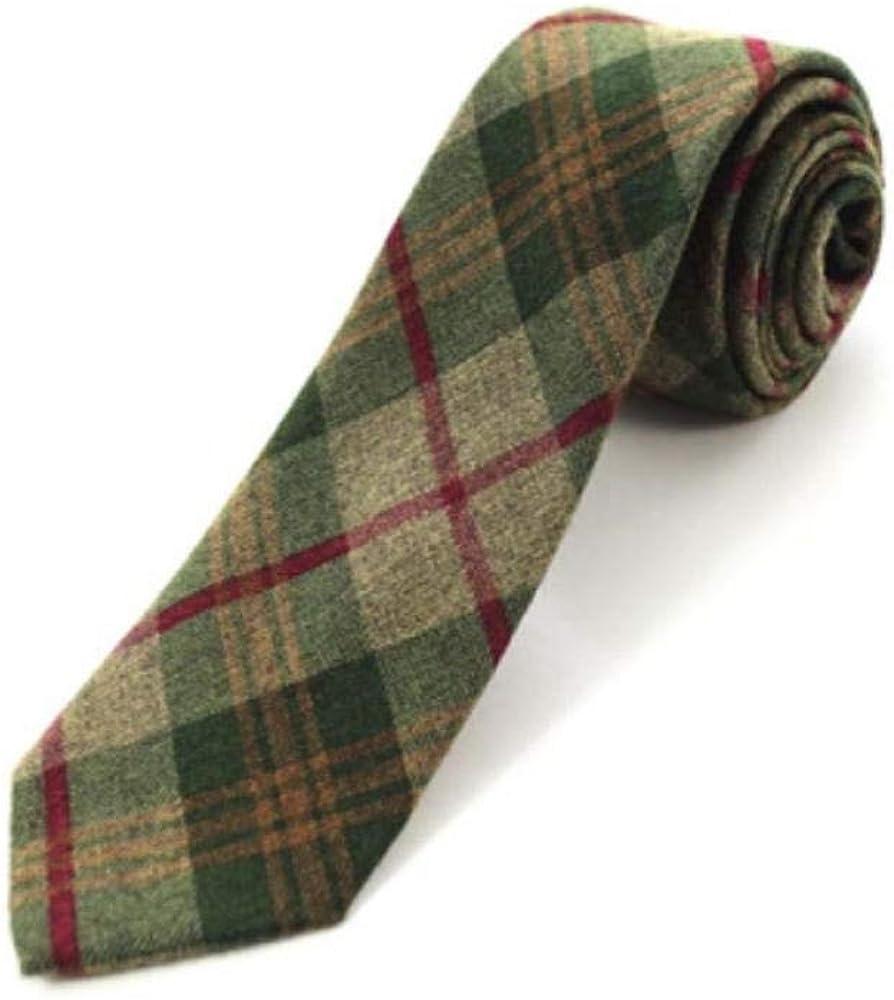 Algodón Skinny Plaid Solid Cashmere Tie Lana Hombres Corbata Para ...