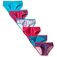 Girls' Multicolor Bikini (Pack of 6)
