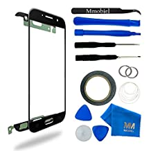 MMOBIEL Front Glass for Samsung Galaxy A5 A520 (2017) (Black) Display Touchscreen incl 12 pcs Tool Kit / Pre-cut Sticker / Tweezers/ Roll of Adhesive Tape /Suction Cup / Metal Wire /cleaning cloth