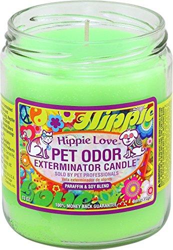 Pet Odor Exterminator Candle Hippie Love Jar (13 oz)