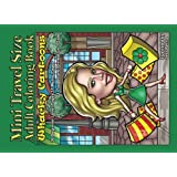 Mini Travel Size Adult Coloring Book Whacky Cartoons