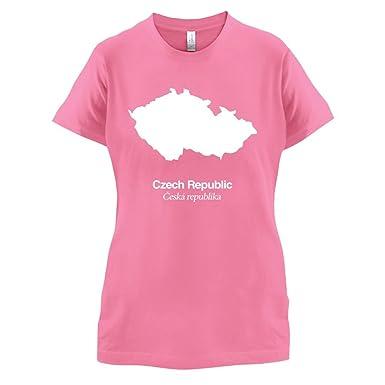 Czech Republic / Tschechische Republik Silhouette - Damen T-Shirt - Azalee  - S