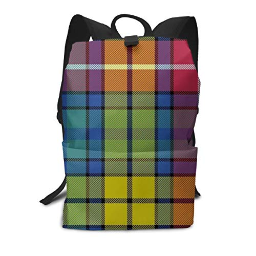 Backpack Buchanan Ancient Tartan College School Travel Outdoor Daypack Bookbag Unisex Fits 15.6inch Laptop