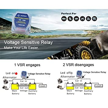 12V 140Amp Smart Waterproof Dual Battery Isolator Fits ATV UTV 4WD Rzr RV Car Watercraft Marine Boat Truck Caravan Camping. UTV//ATV-Kits