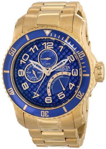 Invicta Men's 15342 Pro Diver Analog Display Japanese Quartz Gold Watch ()