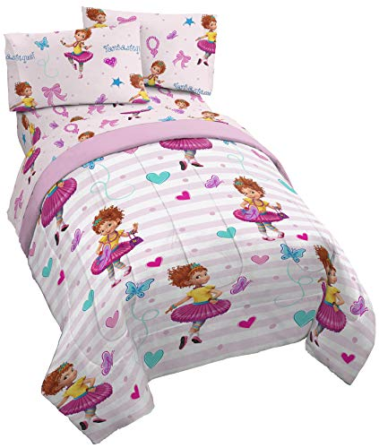 Disney Fancy Nancy Fantastique 4 Piece Twin Bed Set - Includ