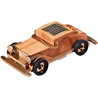 Wireless Bluetooth Speaker, Retro Mini Portable Wooden Classic Car Model Bluetooth Speaker Multiple Play Modes Shocking Bass, Gifts Party Leisure