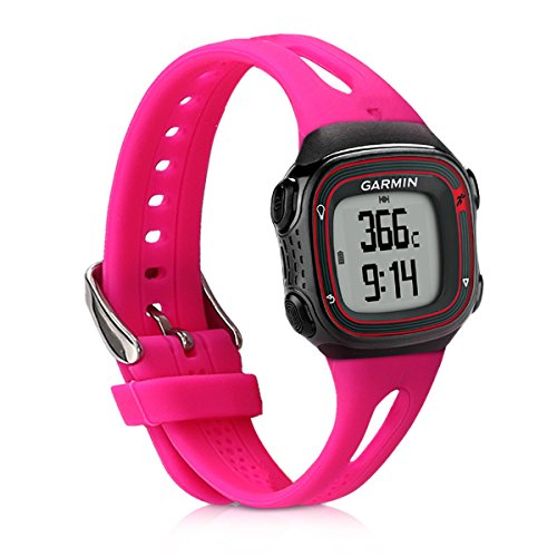 kwmobile Silicone Watch Strap for Garmin Forerunner 10/15 - Fitness Tracker Replacement Band - Sports Wristband Bracelet with Clasp by kwmobile