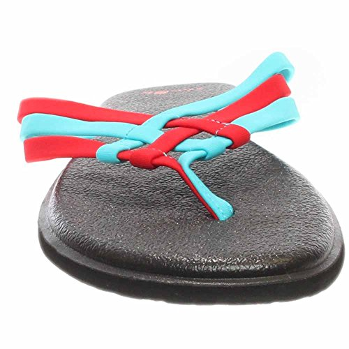 flop Aqua Sanuk Yoga Salty Flip Red Women''s bright wgxgXrIq