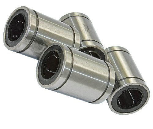VXB Pack of 4 LME25UU Linear Motion 25 mm Ball Bushings, Closed Type, Metric