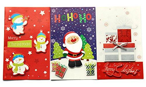 Christmas Card Making Kits - Makes 15 Cards: Santa, Snowmen and Presents (Making Card For Christmas Kits)