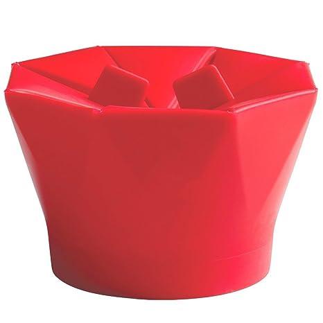 lilystore silicona palomitero, microondas palomitas de maiz poppers rosso