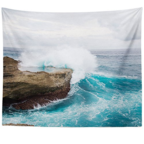 Westlake Art - Wall Hanging Tapestry - Wave Ocean - Photography Home Decor Living Room - (Portsmouth Outdoor Hanging)