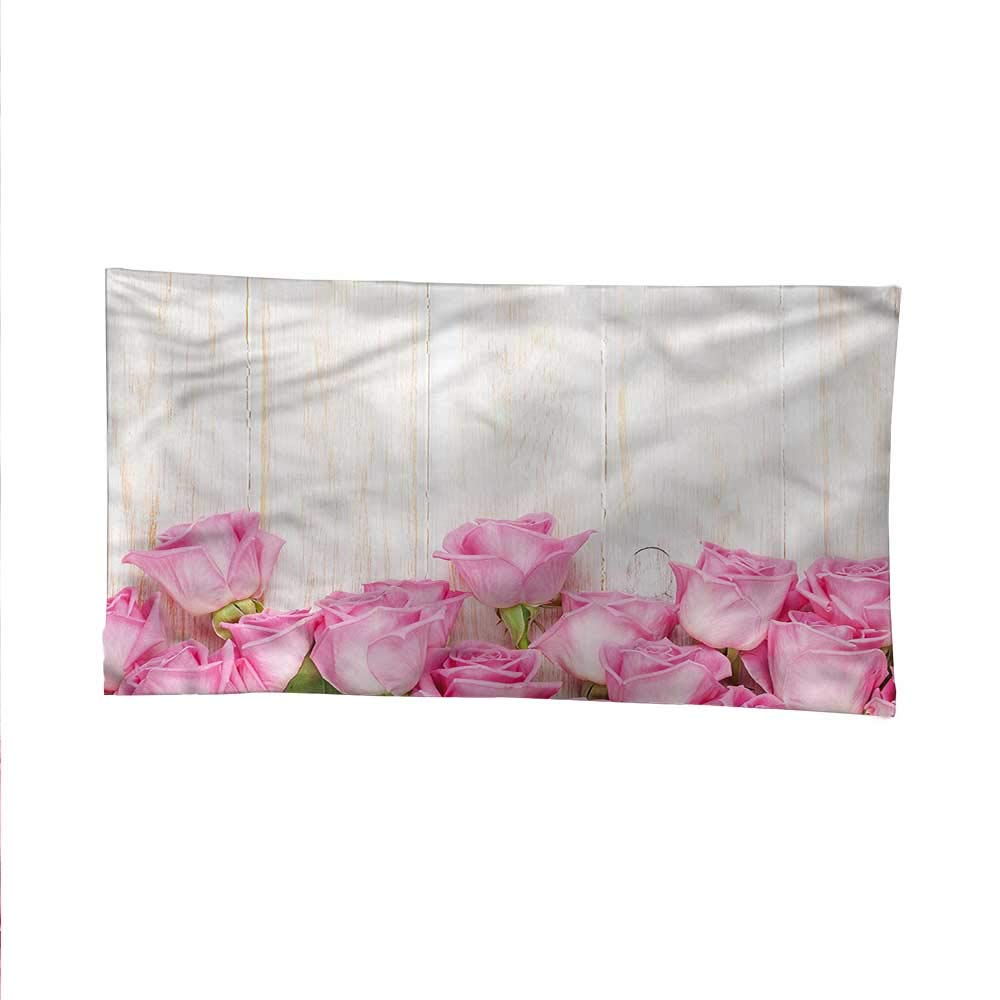 Rosetapestrywall tapestryFlowers on Wood Planks 84W x 54L Inch