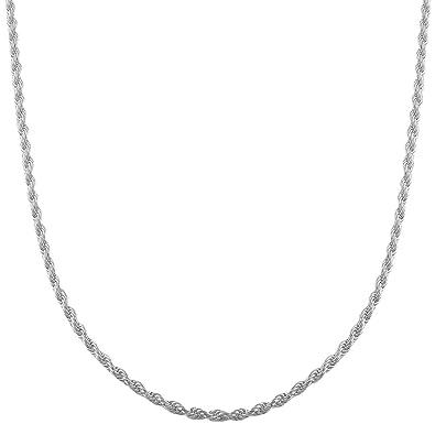 estilo clásico de 2019 50% rebajado comprar nuevo Collar cadena pulsera tobillera Tipo Corde Cordon de fina plata de ley 925  1mm Bisutería Italiano Mujer Hombre - 15, 20, 25, 30, 35, 40, 45, 50, 55,  ...