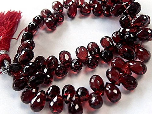 Rhodalite Garnet Gemstone Bead. Semi Precious Gemstone. Faceted Teardrop Briolette, 6-7mm 9pcs