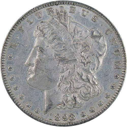 1898 $1 Morgan Silver Dollar US Coin XF EF Extremely Fine