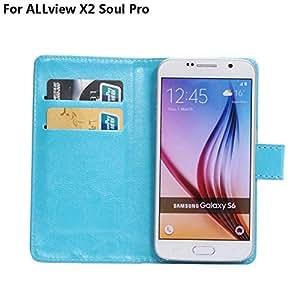 Frlife  Funda de Rotación y Choque para ALLview X2 Soul Pro Smartphone(5.2 Estatura)