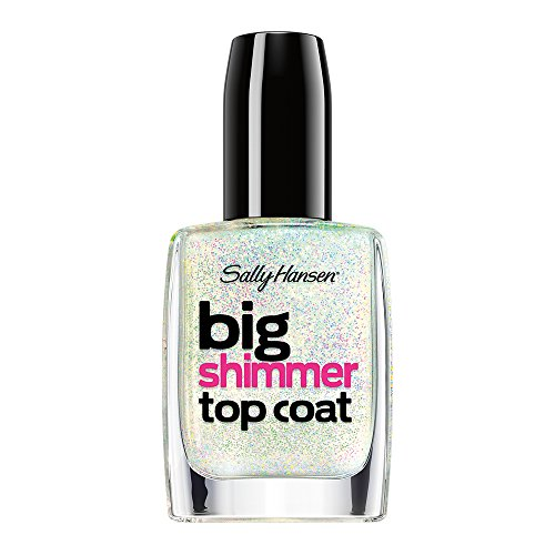 - Sally Hansen Treatment Big Shimmer Top Coat Nail Color, Twinkle Snows, 0.4 Fluid Ounce