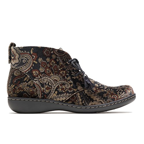 Soft Style by Hush Puppies Women's Jinger Oxford, Black Paisley Velvet, 7 M US by Soft Style