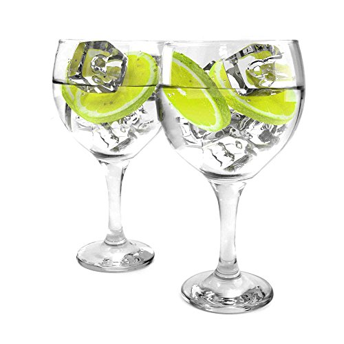 Bottle Of Gin - Ginsanity Set of 2 Gin Balloon Glasses 22oz (645ml) Cocktail/Celebration / Special Occasion/G&T