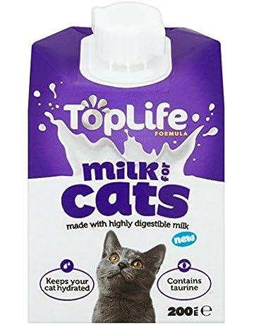 toplife lactosa para gatos Vacas Leche Reduce 200 ml (Paquete con 2)