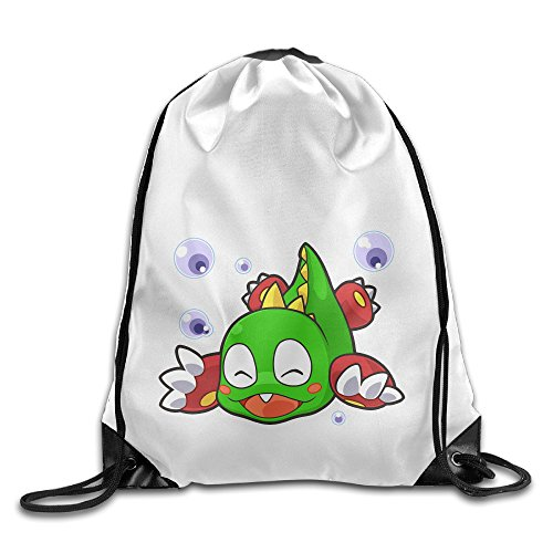 Bekey Bubble Bobble Dragon Drawstring Backpack Sport Bag For Men & Women For Home Travel Storage Use Gym Traveling Shopping Sport Yoga - Free Predator Online 2