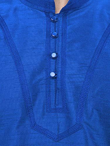 Kurta Pajama Long Sleeve Button Down Dress Shirt Indian Men Wedding Ethnic Casual Dress Traditional Set -XL by SKAVIJ (Image #7)
